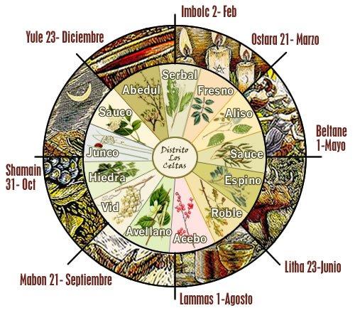 Calendario Celta Vigo.Calendario Celta De Las Plantas Magicas Cosas De