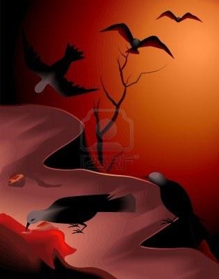 A traves del vuelo de los cuervos podian predecir elfuturo
