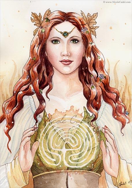 Ariadna la diosa de la Luna es la dueña de todos los laberintos